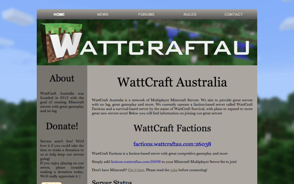 WattCraft AU Website Screenshot